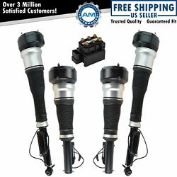 5 Piece Air Suspension Kit Valve Block Solenoid Front And Rear Struts For S-class