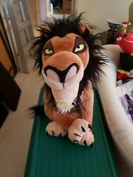 Disney Store Plush The Lion King Original Exclusive Vintage Scar 18and039and039