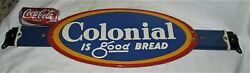Antique Usa Country Kitchen Colonial Bread Kitchen Baking Store Door Push Sign