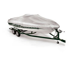New V-hull Fishing Ski Storage Mooring Boat Cover Weatherproof Fits 14and039 -16.5and039l