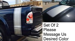Any Truck Rear Beds And Hood Vinyl Decals Racing Stripes Stickers Titan Colorado