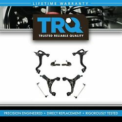 Trq Control Arms Ball Joints Sway Links Tie Rods Steering Suspension Kit 8pc