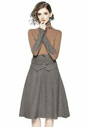 Lai Meng Five Cats Women's Christmas Holiday Two-piece Career Tunic Casual A-lin