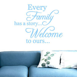 20 Every Family Removable Vinyl Decal Art Mural DIY Home Decor Wall Stickers R