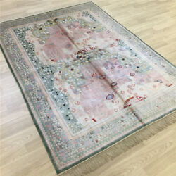 Yilong 5and039x7and039 Vintage Hand Knotted Classic Rug Antique Handmade Silk Carpets 020b