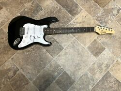 Emmylou Harris Signed Autographed Black Electric Guitar Country Magnolia Wind