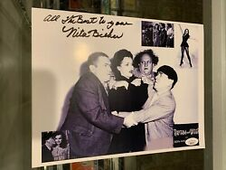 Nita Bieber Movie Actress The Three Stooges Signed 8.5x11 Photo Jsa Authentic