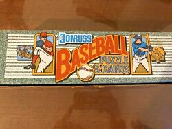 1990 Donruss Baseball Box, Complete Puzzle And Card Set With High Mint Cards