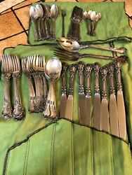 Gorham Chantilly Sterling Flatware Set For 8 With Some Extras.andnbsp