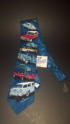 Rm Style 1950s Chevy Cars Licensed 100 Silk Neck Tie Impala Bel Air Nomad Woody