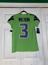 Authentic Russell Wilson Nike Elite Color Rush Jersey Mens Size 40 Rare
