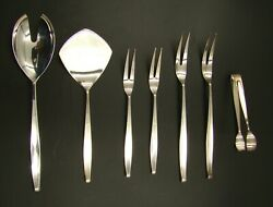 Germany 925 Sterling Silver Modernist Cutlery Flatware Set 176 Pieces Set for 12