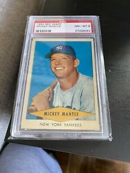1954 Red Heart Dog Food Complete Set Fully PSA Graded AVG. 7.48 Mickey Mantle 8