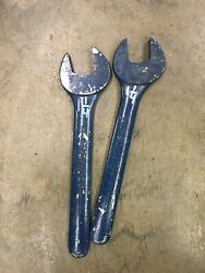 Lot Of 2 Engineers Wrenches 1-1/4 Williams Superwrench