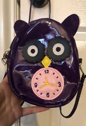 New Owl Clock Purse Shoulder Cross Body Bag Kids Women's Accessory Holder Wallet $13.90