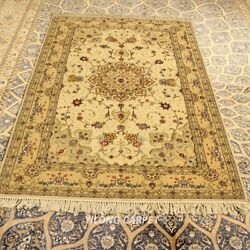 Clearance Yilong 4and039x6and039 Handcraft Wool Rug Bedroom Handmade Woolen Carpet 2115