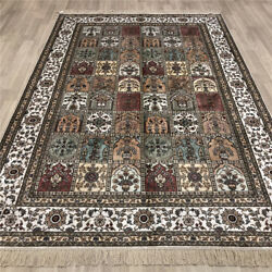 Yilong 6and039x9and039 Garden Scenes Handmade Silk Carpet Pictorial Hand Knotted Rugs 203b