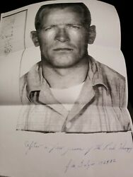 Whitey Bulger Signed Mugshot After A Few Years Of The Rock Therapy