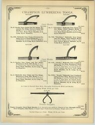 1894 Paper Ad 14 Pg Lumbering Timber One 1 Man Two 2 Cross Cut Saw Keen Kutter