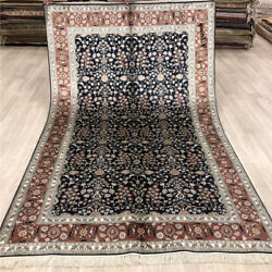 Yilong 5'x8' Floral Antique Silk Area Rug Hand Craft Hand Knotted Carpets 020b
