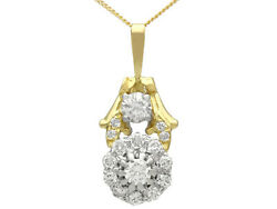 Antique And Contemporary 0.72 Ct Diamond Pendant Yellow Gold