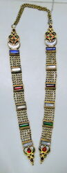 antique 22 ct solid gold chain necklace ethnic tribal jewelry