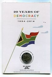 South Africa 2014 20 Years Of Freedom R5 And R2 Union Building In Sa Mint Card