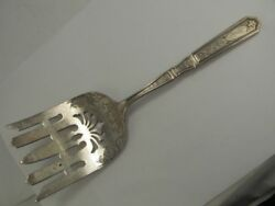Gorham St Dunstan Chased Sterling Asparagus Serving Fork Xlnt Cond Fine Mono