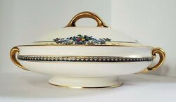Vintage Lenox Golden Gate Round Covered Dish Gold Trim 1922 - 1948 Discontinued