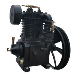 5.5hp 180psi Cast Iron Two Cylinder Air Compressor Pump And Flywheel Two Stage
