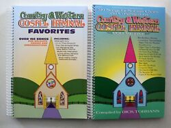 Country And Western Gospel Hymnal Vols 5 And Favorites 2 New Spiral Paperbacks 250+