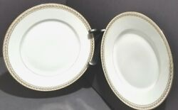 Two Vintage French Martin Limoges Dinner Plates In Pristine Condition