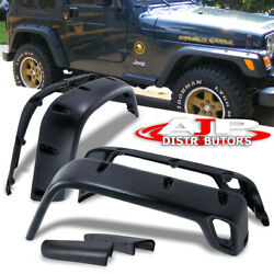 For 97-06 Jeep Wrangler Tj Front + Rear Abs Side Fender Wheel Flares/covers