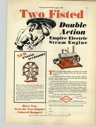 1930 Paper Ad Toy Empire Steam Electric Engine Toys Ferris Wheel