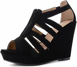 Ashley A Collection Lisa05 Strappy Open Toe Platform Wedges