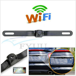 170anddegcar License Plate Frame 720p Wifi Reversing Backup Camera Waterproof Ip67