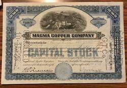 1920and039s Magna Copper Stock Company Stock Certificate - Maine
