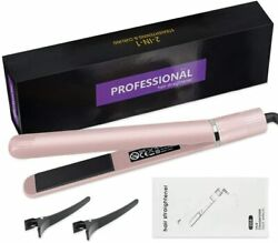 Hair Straightener Titanium Ceramic Flat Iron For Thick Hair
