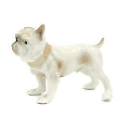 Vintage English Bulldog Figurine LENWILE CHINA 1960#x27;s EXCELLENT CONDITION