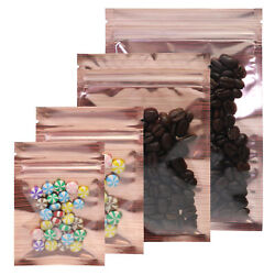 Orange/silver Clear Front Food Safe Mylar Zip Seal Bags For Mixed Nuts Products