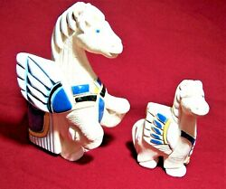 Vintage Retired Artesania Rinconada Mother And Baby Pegasus 255 A And 257 A