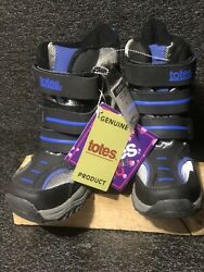 Boys Totes Size 11 leather Black Blue upper winter boots Tote Kids $44.00