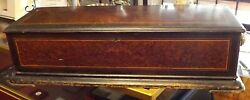 19th C. Massive Antique Airs Swiss Made Large Cylinder 8 Tune Music Box. 33.50