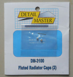 Fluted Radiator Caps 124 125 Detail Master Car Model Accessory 3100