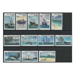 Mint 1976 Cocos Keeling Island Definitive Ships Boats Stamp Set Of 12 Muh