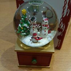 Starbucks Japan Christmas Holiday Limited Snow Globe Dome Red Cup Coffee Rare
