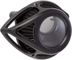 Arlen Ness Black Clear Tear Air Cleaner Filter Kit 08-17 Harley Touring Softail