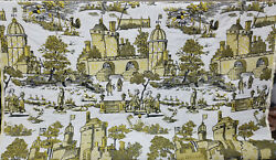 Authentic French Designer TOILE Tapestry Upholstery Fabric By The Yard