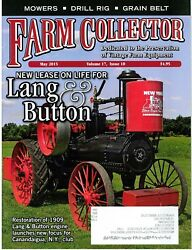 Lang And Button Engine Restore Horse Drawn Mower Collection Grain Belt Tractor