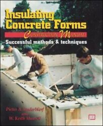 Insulating Concrete Forms Construction Manual By Vanderwerf, Munsell New-,